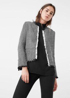 Jacquard-jacke - Jacken für Damen | MANGO Deutschland