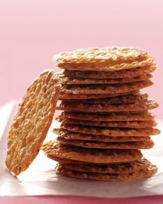 Christmas Cookie Recipes: Lacy Almond-Orange Cookies