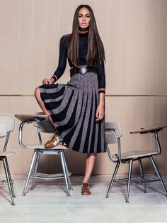 Joan Smalls Wears Back to School Style for Vogue Mexico Editorial