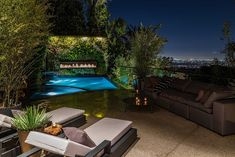 Luxurious single family residence located in Hollywood Hills, LA, California, designed by iElement. Hollywood Hills, Big Beautiful Houses, Beautiful Homes, Outdoor Spaces, Outdoor Living, Outdoor Decor, Outdoor Balcony, Polished Concrete Flooring, Infinity Edge Pool