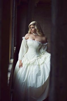 Cinderella Wedding Gown in Cotton - Summer Bridal Gown- Fairytale Fantasy Ballgown -Custom to Order by KMKDesignsllc on Etsy https://www.etsy.com/listing/191398030/cinderella-wedding-gown-in-cotton-summer