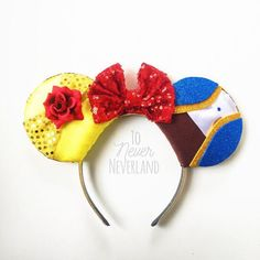 Beauty and the Beast Ears, Belle Ears, Belle Mickey Ears, Disney Inspired Beauty and the Beast Ears, Belle Mouse Ears, Beauty and the Beast Note: this listing is for PRE-ORDER ears. Our current turnaround time is 2-3 weeks. Be a part of the magic with our original design (others