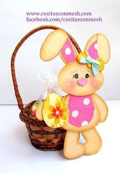Aprende cómo hacer conejos en foami y huevos de pascua ~ cositasconmesh