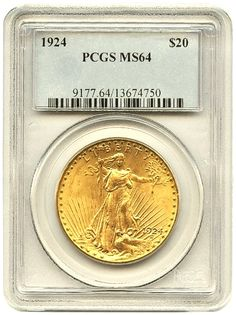 St.Gaudens 20.00 Gold Coins Certified MS-64 - MintProducts.com