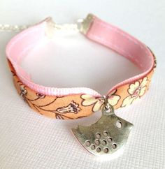 Liberty of London Fabric Children Wrap Bracelet with Little Bird Charm - Oh so French - Chocolatine Boutique