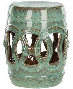 Maia Ceramic Garden Stool, Direct Ships for just $9.95  Macy's  Instead of existing side tables