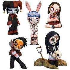 Living Dead Dolls Blind Mystery Box 2-Inch Random Collectible Figurine.  I like the Jester and the Calevera :)