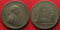 1785 Haus Habsburg - Medaillen JOSEPH II. 1781 TOLERANZPATENT FÜR PROTESTANTEN & JUDEN v. Oexlein Zinn # 93805 ss