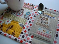 Mug rug with a pocket, great gift idea!