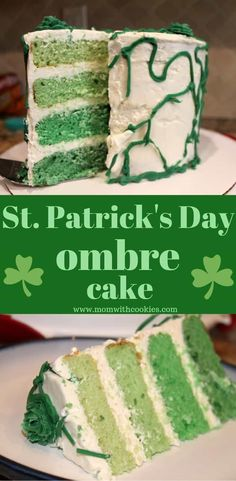 This green ombre cake is perfect for your St Patricks Day celebration. Sweet Desserts, Easy Desserts, Sweet Recipes, Holiday Desserts, Holiday Recipes, Box Cake Mix, Cake Pops, Cake Mix Recipes, Dessert Recipes