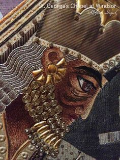 Katherine Diuguid. These are some details of Mary and a Wiseman from the Adoration of the Magi panel by Beryl Dean