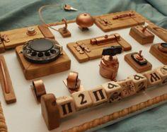 Kleinkind-BUSY-Brett mit Überraschungen kostenlose Versand personalisierte Sensor-Brett motorische & Entwicklung Geschenk für Kind natürliche Spielzeug Riegel board