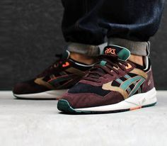 #Asics Gel Saga-Black-Dark Green #sneakers