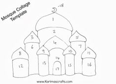 Coloring Pages Printable Mosque Coloring Sheets Mosque