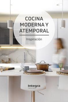 Interior Exterior, Mirror, Furniture, Home Decor, Kitchen White, Kitchen Modern, Townhouse, Kitchen Islands, Decks