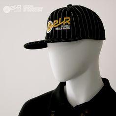 Gorra Raper adecuada para primavera-verano. Es una gorra negra con pespunte  blanco en c2277303469