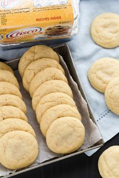 Thick, light-textured Classic Sugar Cookies that are made with shortening instead of butter. --full step-by-step recipe on bakedbyanintrovert.com #cookies #sugarcookies #baking #dessert