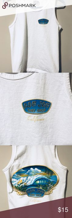 Worn once Ron Jon Surf Shop Tank Size small.  Worn once.  In perfect condition.  No stains, no marks.  Ron Jon Surf California Tank. ron jon surf Tops Tank Tops