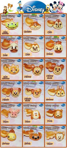 Disney Squishies Winnie the Pooh, Chip, Dale, Tigger and Stitch