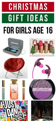 Holiday Gift Guide featuring beauty gifts, personalized gifts, fashion gifts, room gifts and more for girls age 16.