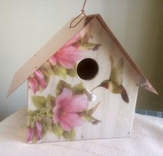 Hummingbirds and Hibiscus Copper Roofed by HandiLeighCrafted