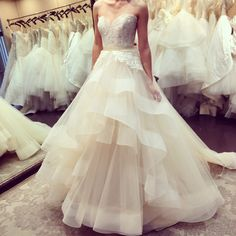 Lazaro Real Life Wedding Dress