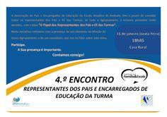 4º Encontro de representantes dos pais e encarregados de educação da turma