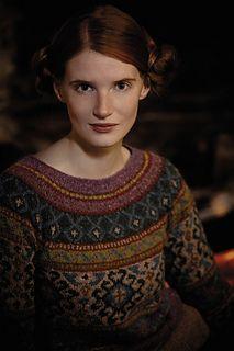 love the colours !!  Anatolia by Marie Wallin ..... Rowan yarns