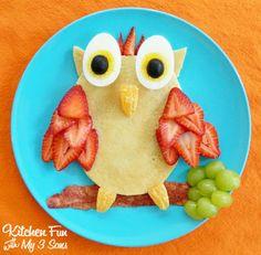 Owl Pancake Breakfast...super easy & a complete breakfast!:)