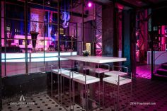 Neon Bar\'s Waterfall Wall | Commercial Design | Pinterest | Neon ...
