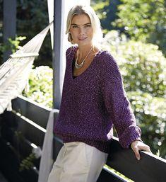 Пуловер с сетчатым патентным узором