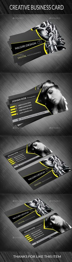 Photography Business Card 2  #template #creative #business