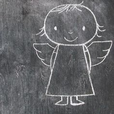 Dick Bruna // simple illustration of an angel. Christmas Feeling, Noel Christmas, Christmas And New Year, Winter Christmas, Christmas Crafts, Christmas Decorations, Black Christmas, I Believe In Angels, Chalk It Up