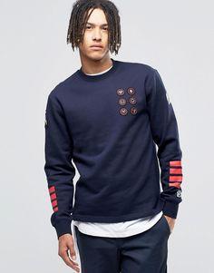Image 1 ofBillionaire Boys Club Sweatshirt With Badges