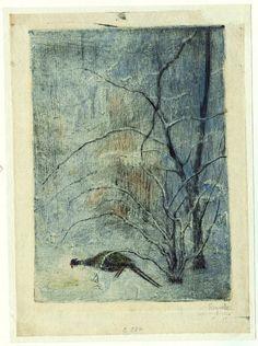 Bohuslav Reynek, Bažant v zimě, 1947