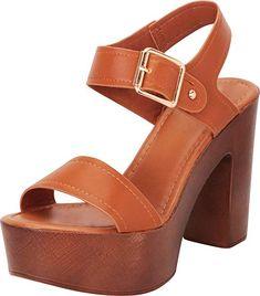 86421861e24b hannah- Amazon.com | Cambridge Select Women's Retro 70s Open Toe Chunky  Platform High