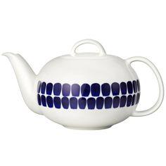 Arabia teekannu l, Tuokio - Prisma verkkokauppa Kitchenware, Tableware, Ceramic Design, White Decor, Scandinavian Design, Finland, Dinnerware, Tea Cups, Blue And White