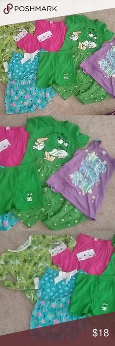 Girl's pajama bundle, huge lot of girls pajamas This bundle includes all items pictured. 3 pairs of pj shorts, 3 pj tops, and 2 pj pants. All used but in great condition. Long sleeve Christmas shirt has some minor stains but still has plenty of life left! Various brands all size 7, 7/8 or 8.   I give additional discounts for bundles, shop my closet and save! Happy poshing! Pajamas