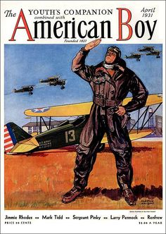 """Clayton Knight cover illustration / April 1931 """"The American Boy"""""""