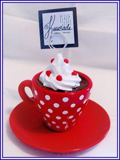 Hot chocolate with polka dot pattern by Seatear.deviantart.com on @deviantART
