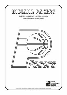 Cool Coloring Pages - NBA Teams Logos / Indiana Pacers logo / Coloring page with…