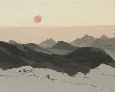 Sir Kyffin Williams, R.A. (1918-2006)   Sunset, Eryri; oil on canvas