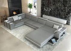 +++ Designer Interior Design Asti U-shaped White/black Leather Couch++ + Leather Corner Sofa, Modern Leather Sofa, Modern Sofa, Black Leather, Corner Sofa Design, Living Room Sofa Design, Sofa Set Designs, Wood Chair Design, Furniture Design