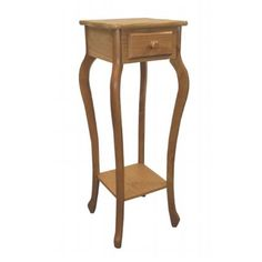ORE International Warm Oak Indoor Square Wood Plant Stand at Lowe's. Use as a plant stand or telephone table. Single drawer is ideal for storing a notepad and pen. Wood and wood composite with a warm oak finish. Wood Plant Stand, Plant Stands, Bamboo Weaving, Wooden Flowers, End Tables With Storage, Light Oak, Accent Furniture, Antique Furniture, Open Shelving