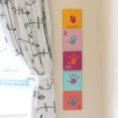 Creating a yearly handprint canvas with your little one... A simple, but lovely tradition!