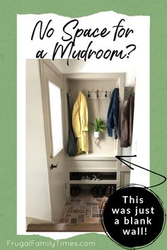 Mar 21 2020 Wish you had space for a mudroom? We made an organized entryway mudroom space in a tiny st Mudroom, Modern House Design, Small Mudroom Ideas, Affordable Home Decor, Home Decor, Entryway, Entryway Storage, Built In Storage, Storage