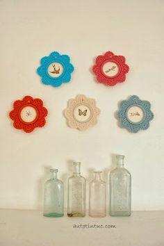 Como hacer Marcos de Fotos de Crochet con Aros