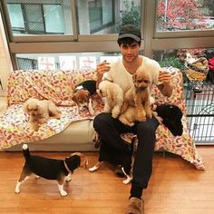 Matthew Daddario. SO adorable! And I'm not talking about the dogs! ;)