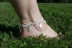 bridal jewelry wedding jewelry bridal anklet bridal by MamaTats, $18.00 I ordered one of these and they are fantastic!