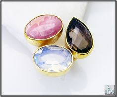 Multi Turquoise Gemstones 18.Kt Y Gold Plating Aqiq Ring Sz 7 Gprmul7-5283 http://www.riyogems.com